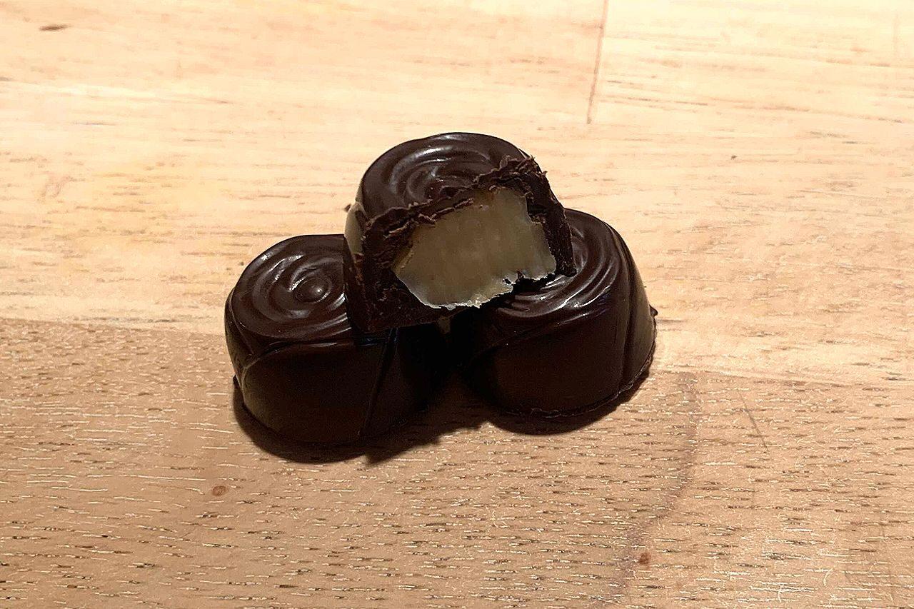 Fyldt chokolade med saltkaramel
